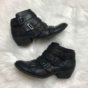 Sam and Libby Moto Buckle Booties